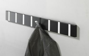 Design wall mounted coat rail with 8 hooks