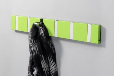 KNAX 6 Coat Rack wall mounted in Green with sharf