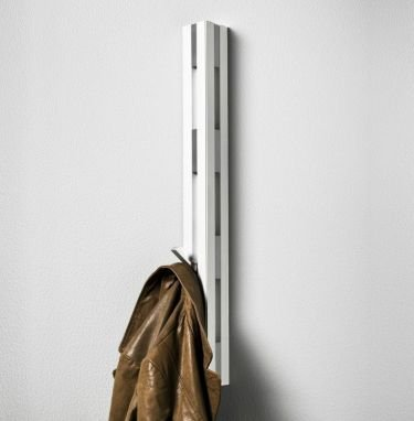 KNAX vertical wall mounted coat hooks in white