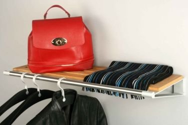 KNAX design shelf with clothes rack
