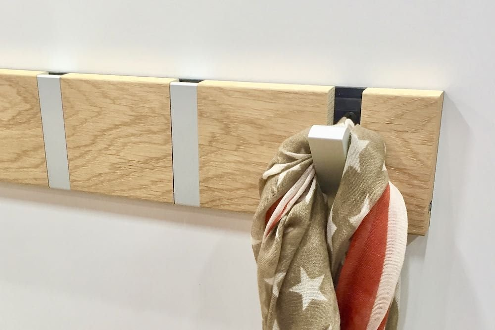 modern oak coat rack multi with hooks