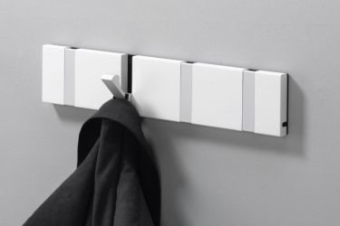 Contemporary design white coat rack KNAX Denmark