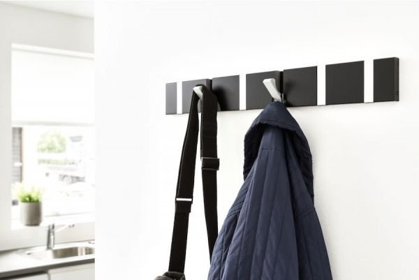 Minimalistic wall coat rack in color - Award winning danish design